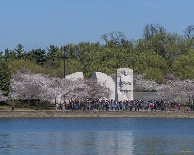 Photograph - Dr. Martin Luther King, Jr. Memorial At Cherry Blossom Time Ds0071 by Gerry Gantt