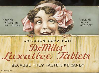 Ephemera Photograph - Dr. Miles Laxative Tablets Ephemera by Black Brook Photography