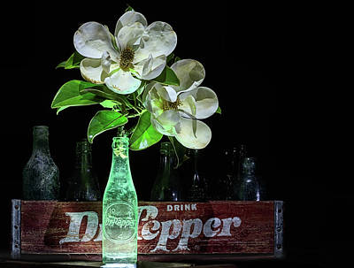 Photograph - Dr Pepper And Magnolia Still Life by JC Findley