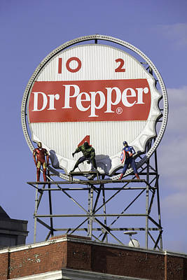 Crime Fighter Photograph - Dr Pepper And The Avengers by Teresa Mucha