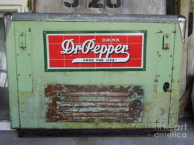 Photograph - Dr Pepper Cooler by D Hackett