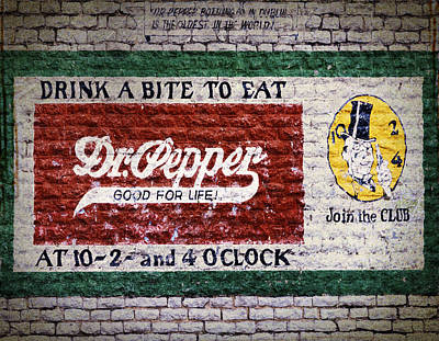 Mural Photograph - Dr Pepper Good For Life by Joan Carroll