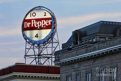 Photograph - Dr Pepper Sign by Jerry Fornarotto
