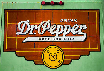 Bottling Company Photograph - Dr Pepper Truck Sign by Stephen Stookey