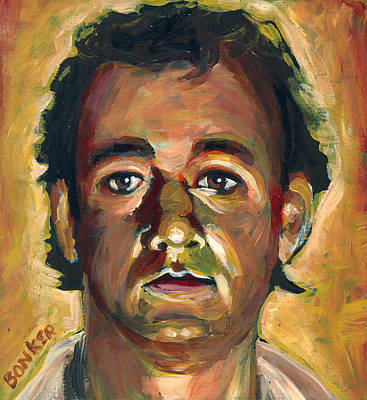 Bill Painting - Dr. Peter Venkman by Buffalo Bonker