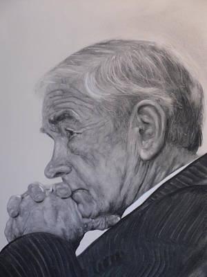 Dr. Ron Paul, Pensive Art Print by Adrienne Martino