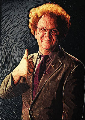 Digital Art - Dr. Steve Brule by Taylan Apukovska