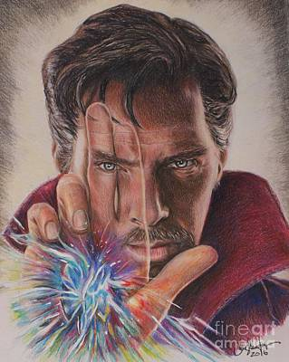 Drawing - Dr. Strange by Christine Jepsen