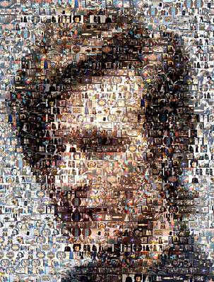 Dr. Who Mosaic Art Print by Paul Van Scott