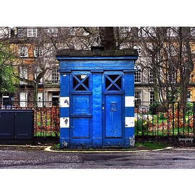 Sciencefiction Photograph - Dr Who?  #police #phonebox #phonebooth by Saad Naqvi