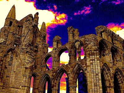 Photograph - Dracula Abbey In Whitby England by Jen White