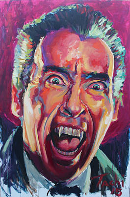 Character Portraits Painting - Dracula - Christoper Lee by Tachi Pintor