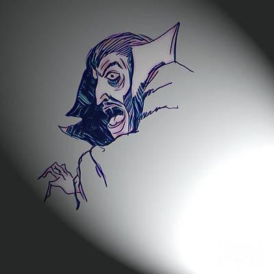 Mixed Media - Dracula - Let There Be Light by Art MacKay