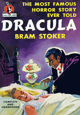 Print featuring the painting Dracula by Unknown Artist