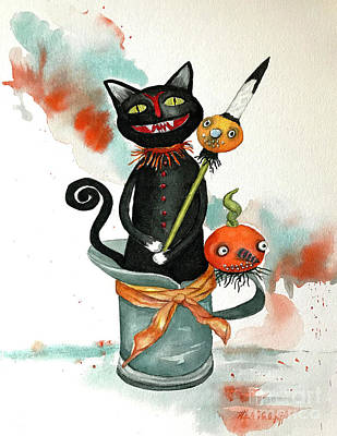 Dracula Vintage Cat Art Print