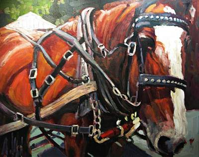 Of Horses Painting - Draft Horse by Brian Simons