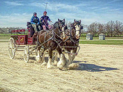 Draft Horse Driving Clinic - Kentucky Horse Park Art Print
