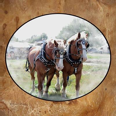 Draft Horse Digital Art - Draft Horse Duo by Kae Cheatham