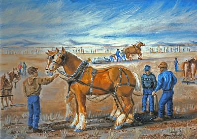 Draft Horse Pull Art Print