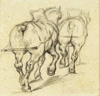 Draft Horses After Gericault Art Print