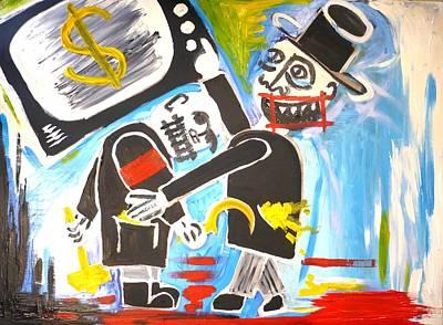 Theft Painting - Draft Of Kapital  by Stuart Bracewell