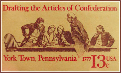 Bicentennial Painting - Drafting The Articles Of Confederation by Lanjee Chee