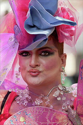 Drag Queen Gay  Pride Parade Nyc 6 27 10 Art Print