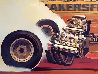 Digital Art - Drag Racing by Gary Grayson