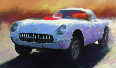 Digital Art - Drag Vette by David King