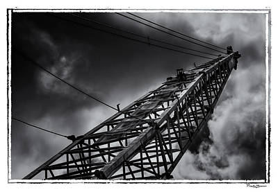 Photograph - Dragline 553bw by Rudy Umans