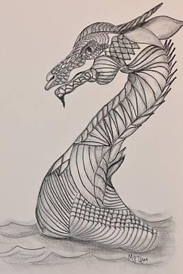 Drawing - Dragon 16-02 by Maria Urso