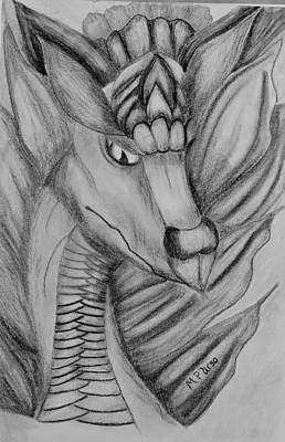 Drawing - Dragon 16-03 by Maria Urso