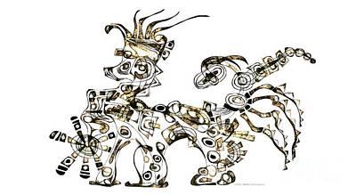 Digital Art - Dragon 3920 by Marek Lutek