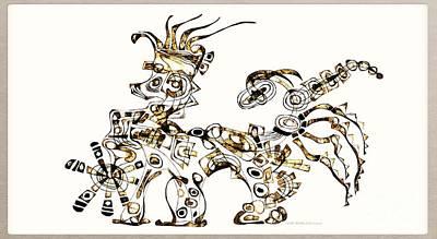 Digital Art - Dragon 3921 by Marek Lutek