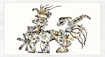 Digital Art - Dragon 3922 by Marek Lutek