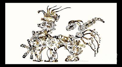 Digital Art - Dragon 3923 by Marek Lutek