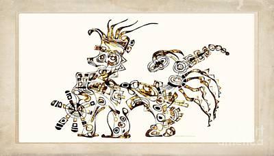 Digital Art - Dragon 3924 by Marek Lutek