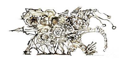 Digital Art - Dragon 3996 by Marek Lutek