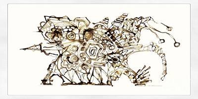 Digital Art - Dragon 3998 by Marek Lutek