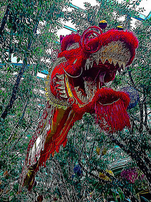 Dragon Photograph - Dragon Air Dance by Lucky Chen