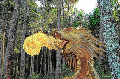 Photograph - Dragon Among The Pines by EricaMaxine Price