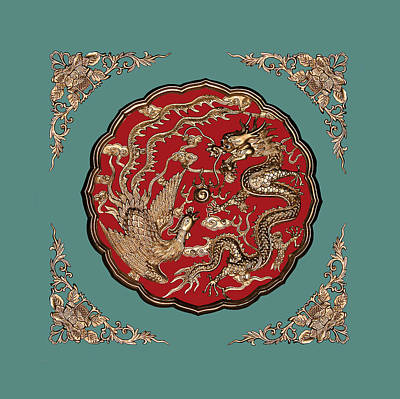 Chinese Dragon Photograph - Dragon And Phoenix by Kristin Elmquist