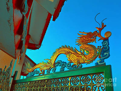 Digital Art - Dragon At The Gate by Ian Gledhill