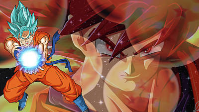 Graphic Digital Art - Dragon Ball Super by Super Lovely