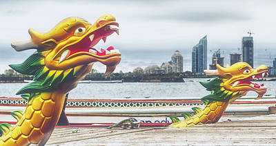 Photograph - Dragon Boats by Garvin Hunter