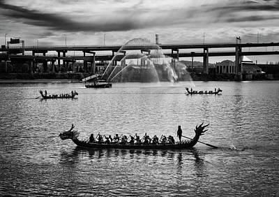 Photograph - Dragon Boats by Steven Clark