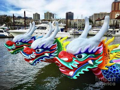 Photograph - Dragon Boats Wait by Susan Garren