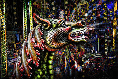 Photograph - Dragon Carousel by Michael Arend