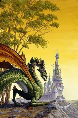 Atlantis Painting - Dragon Castle by Richard Hescox