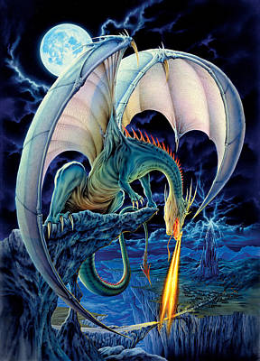 Dragon Causeway Art Print by The Dragon Chronicles - Robin Ko
